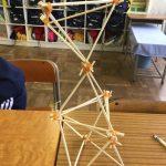 割り箸と輪ゴムで丈夫な構造の学習